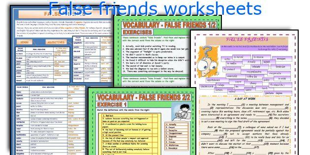 False friends worksheets