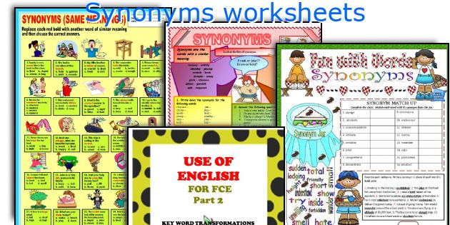 Synonyms Worksheets. Worksheet. Synonyms Worksheet Elementary At Clickcart.co