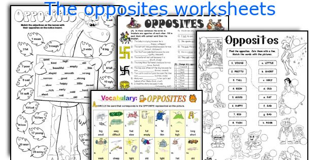 The Opposites Worksheets. Worksheet. Worksheets On Opposites At Mspartners.co