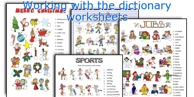 Working with the dictionary worksheets