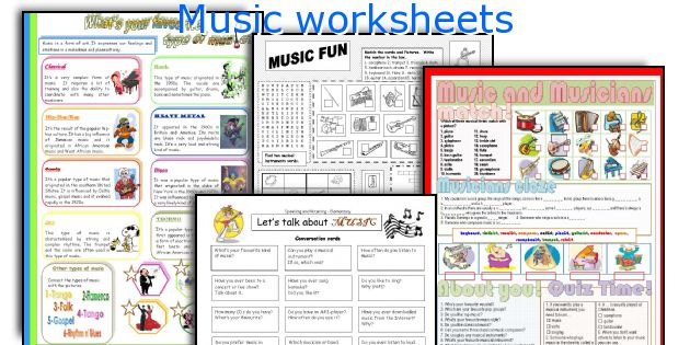 English teaching worksheets Music – Music History Worksheets