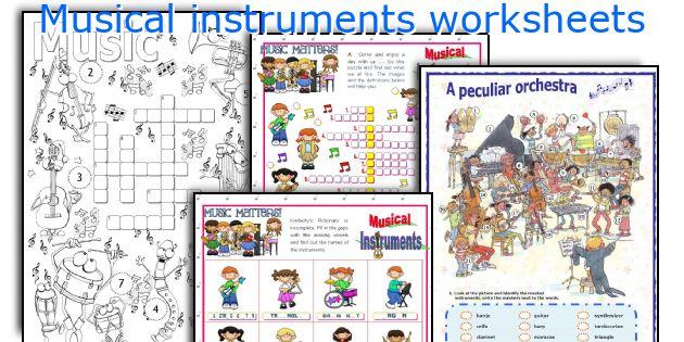 Musical instruments worksheets