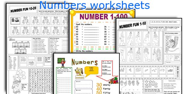 English teaching worksheets: Numbers