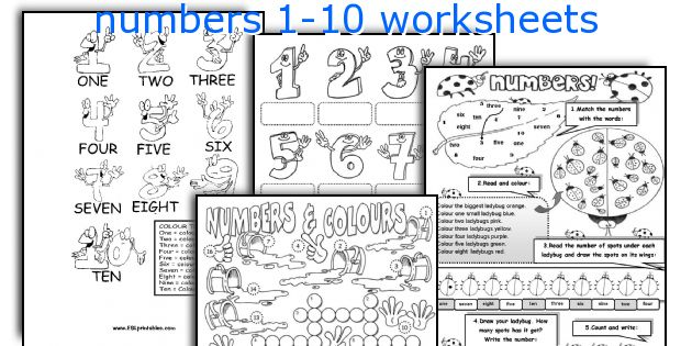 English teaching worksheets: numbers 1-10
