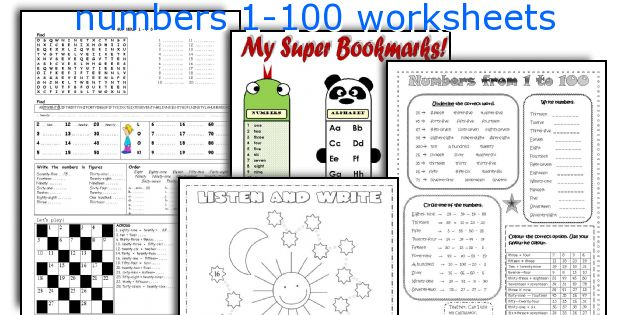 English teaching worksheets: numbers 1-100