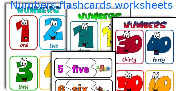numbers flashcards worksheets worksheets and activities for teaching ...