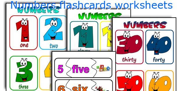 numbers flashcards worksheets