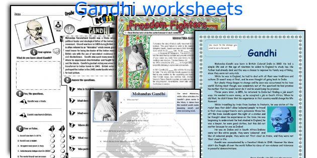 Gandhi worksheets