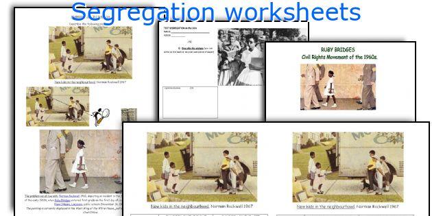 English Teaching Worksheets Segregation