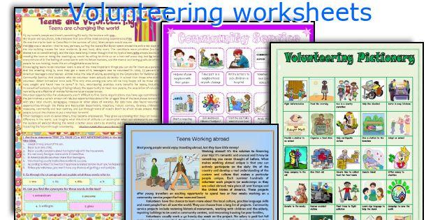 Volunteering worksheets