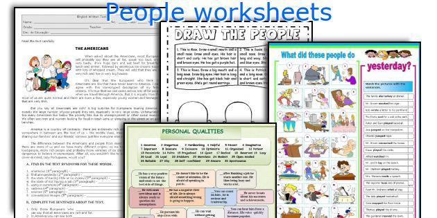 People worksheets