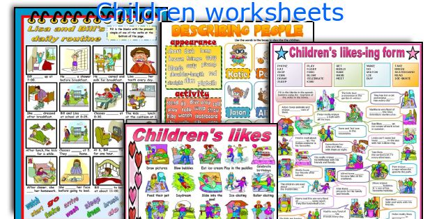 Children worksheets