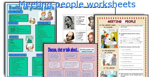 Meeting people worksheets