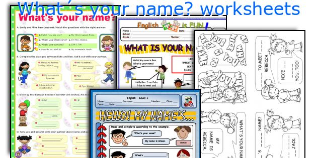 What´s your name? worksheets