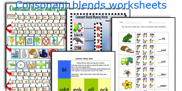 English teaching worksheets: Consonant blends