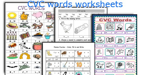 English teaching worksheets CVC words – Cvc Kindergarten Worksheets