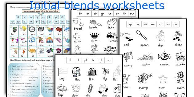 English teaching worksheets Initial blends – Blends Worksheets