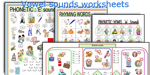 English teaching worksheets: Vowel sounds