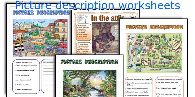 picture description worksheets. Black Bedroom Furniture Sets. Home Design Ideas