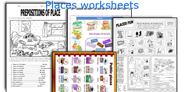Places worksheets