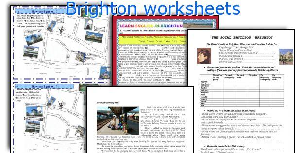 Brighton worksheets