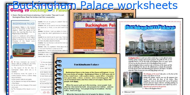 Buckingham Palace worksheets