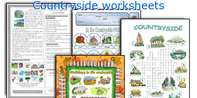 Countryside worksheets