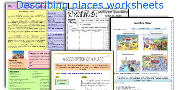 Describing places worksheets