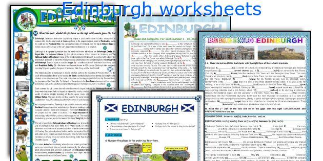 Edinburgh worksheets