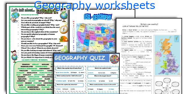 English teaching worksheets Geography – Geography Worksheets High School