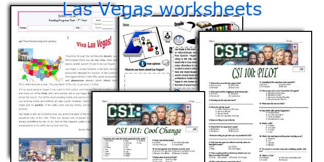 Las Vegas worksheets