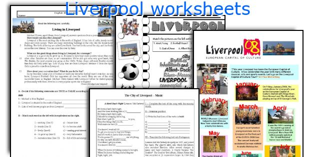 Liverpool worksheets