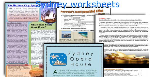 Sydney worksheets