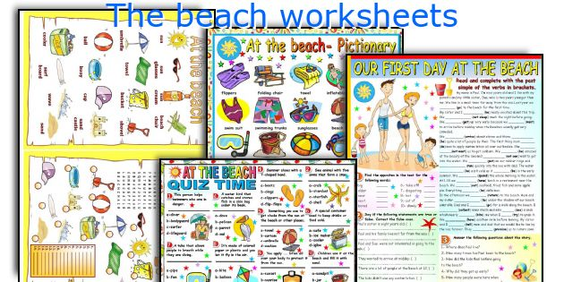 The beach worksheets