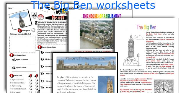 The Big Ben worksheets