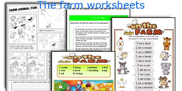 The farm worksheets