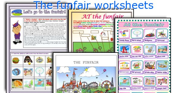 The funfair worksheets
