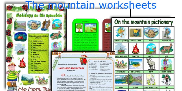 The mountain worksheets