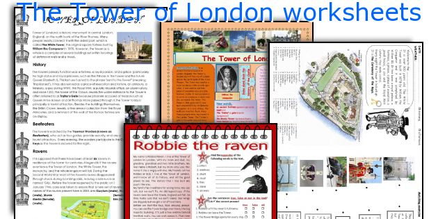 The Tower of London worksheets