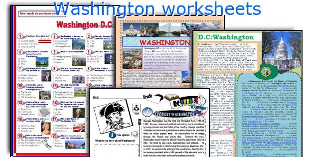 Washington worksheets