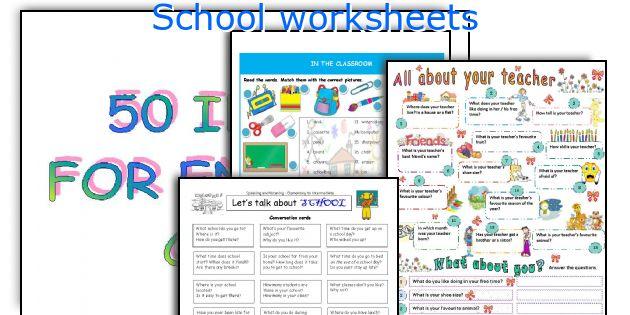 English teaching worksheets: School