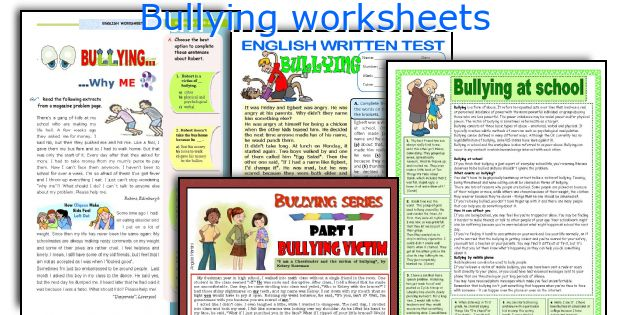english teaching worksheets bullying. Black Bedroom Furniture Sets. Home Design Ideas