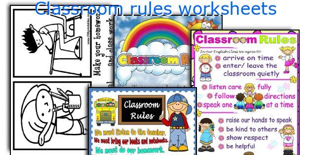 classroom rules worksheets. Black Bedroom Furniture Sets. Home Design Ideas