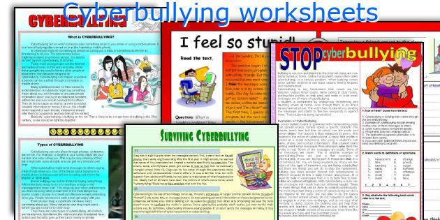 cyberbullying worksheets. Black Bedroom Furniture Sets. Home Design Ideas