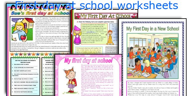 English teaching worksheets: First day at school