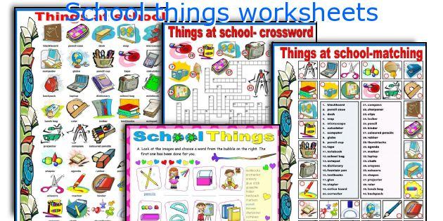 School things worksheets