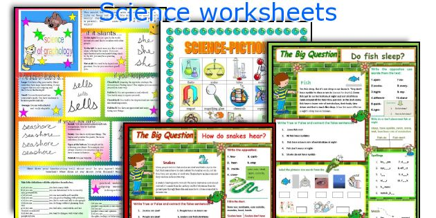 English teaching worksheets: Science