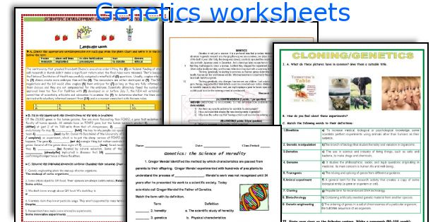 Genetics Worksheets