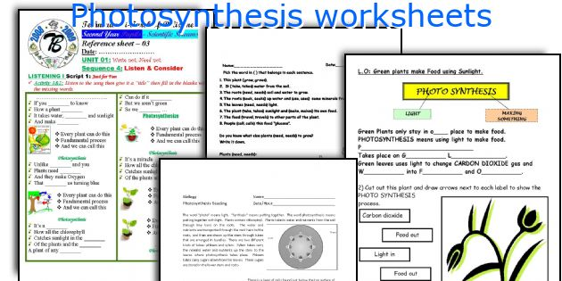 English teaching worksheets Photosynthesis – Photosynthesis Worksheets Kids