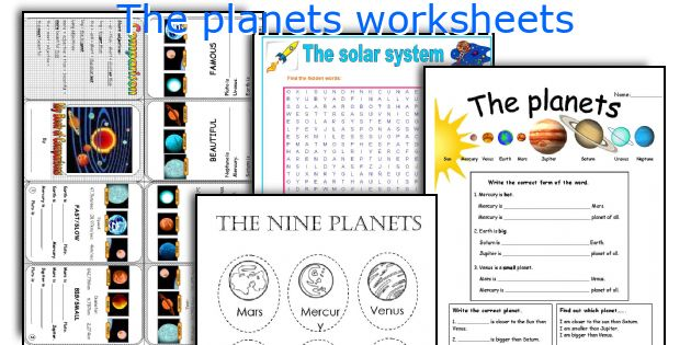 English teaching worksheets: The planets